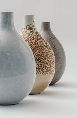 Landbeck Keramik Vasen Krakelee Berlin