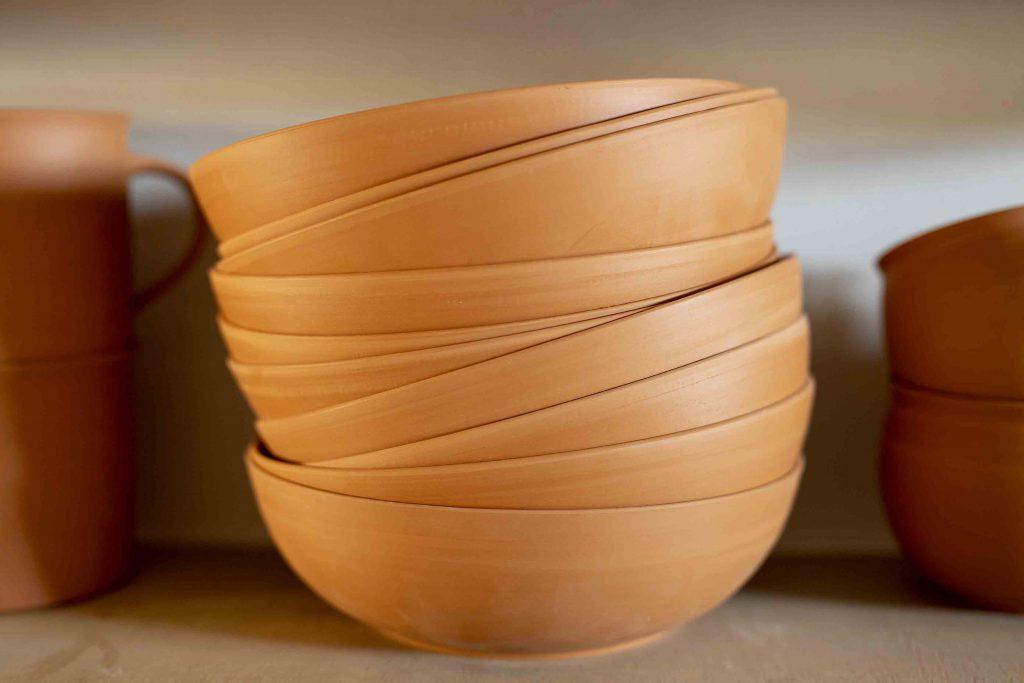 Landbeck Keramik Schalen Rohlinge nach Brand