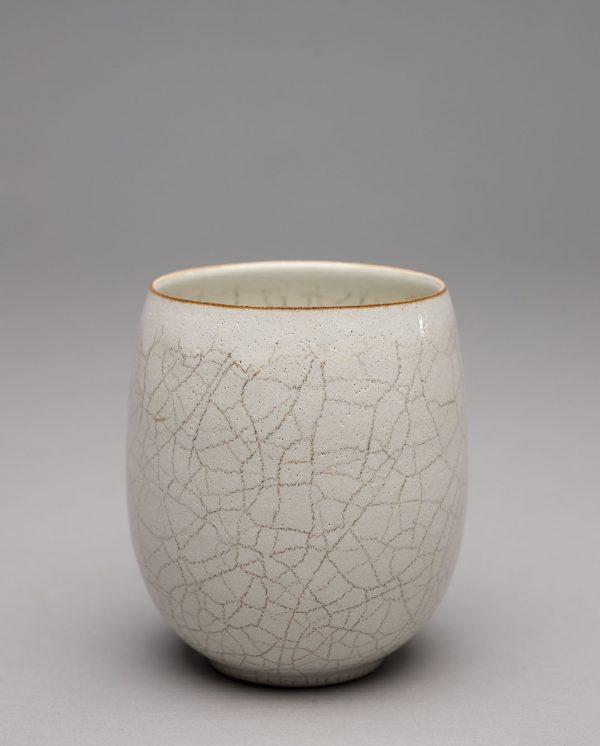 Landbeck Keramik Becher Beige Krakelee