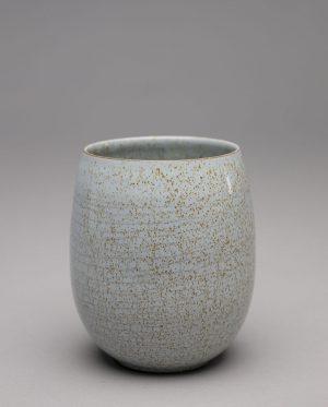 Landbeck Keramik Becher Blau Krakelee
