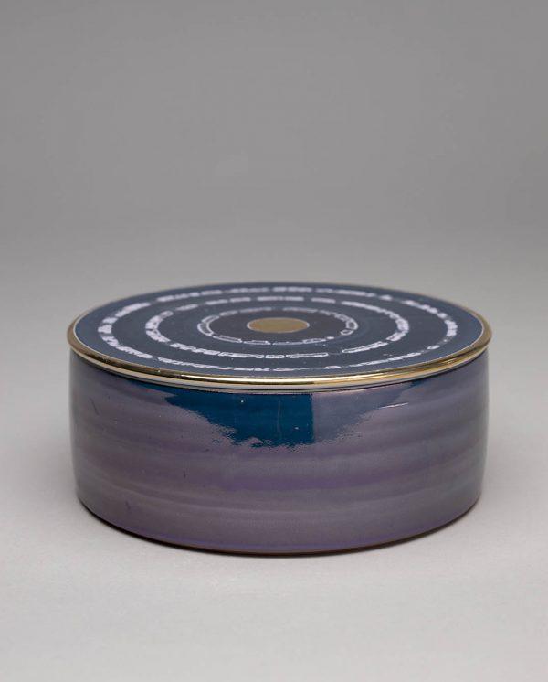 Landbeck Keramik Dose Blau Luester