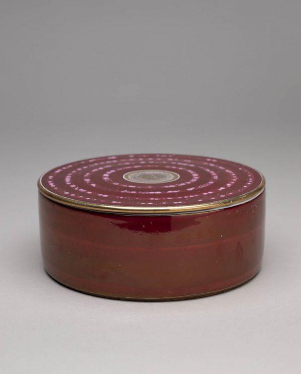 Landbeck Keramik Dose Rot Luester
