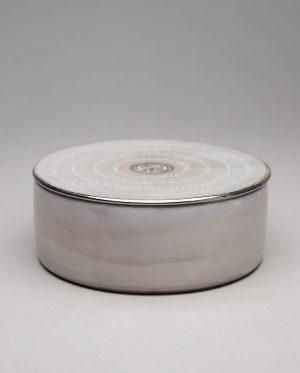 Landbeck Keramik Dose Hellgrau Luester