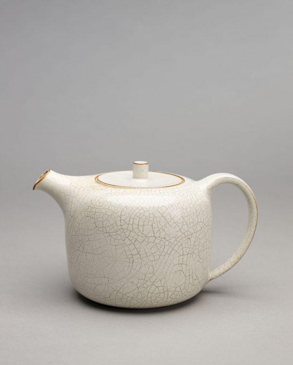 Landbeck Keramik Kanne Beige Krakelee