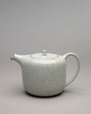 Landbeck Keramik Kanne Blau Krakelee