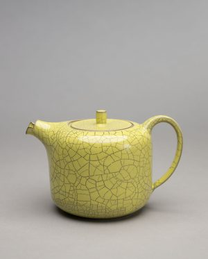 Landbeck Keramik Kanne Gelb Krakelee