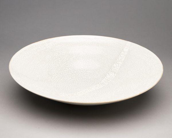 Landbeck Keramik Schale Beige Krakelee von oben