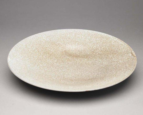 Landbeck Keramik Schale Hellblau Krakelee von oben