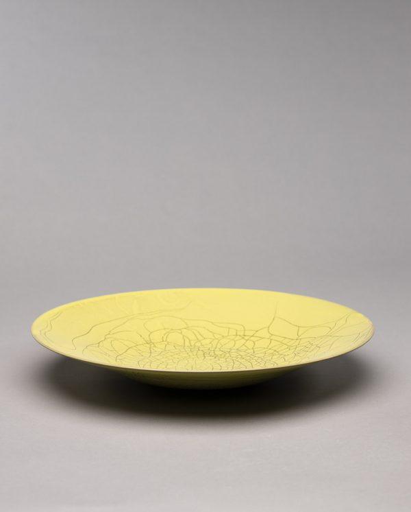 Landbeck Keramik große Schale Gelb