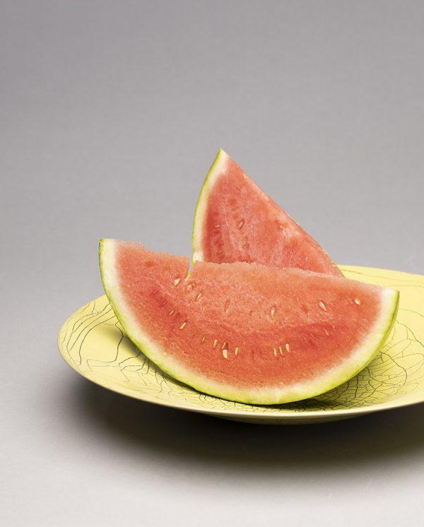 Landbeck Keramik große Schale Gelb mit Wassermelone