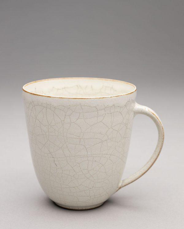 Landbeck Keramik kleine Tasse Beige Krakelee