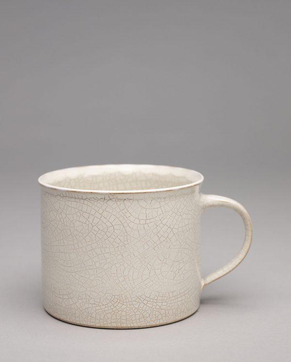 Landbeck Keramik Tasse Beige Krakelee