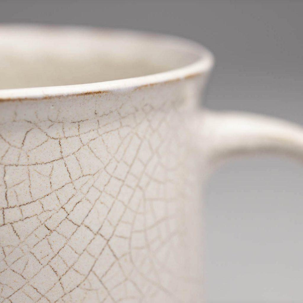 Landbeck Keramik Tasse Krakelee Beige