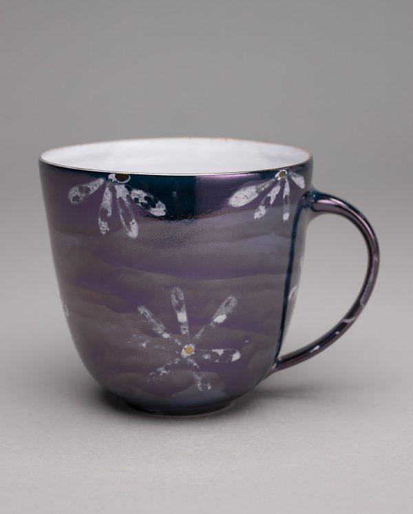 Landbeck Keramik große Tasse Dunkelblau Luester
