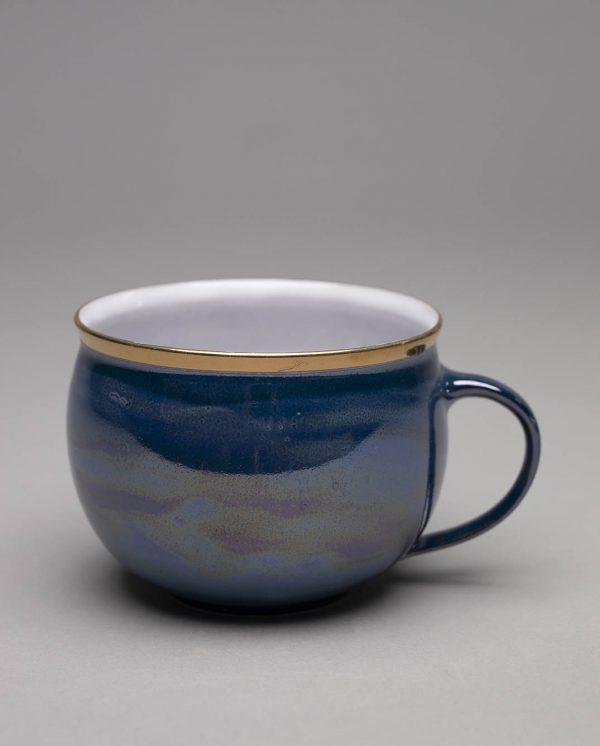 Landbeck Keramik Tasse Blau Lüster