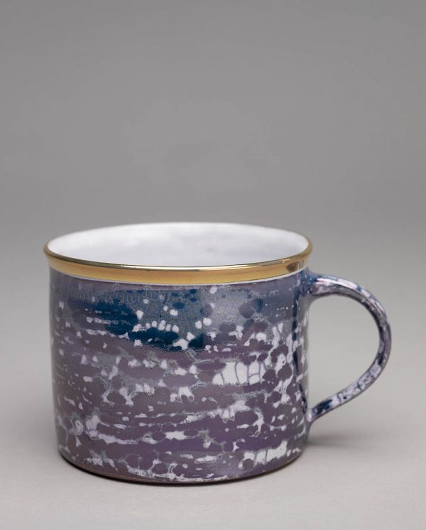 Landbeck Keramik Tasse Dunkelblau Lüster