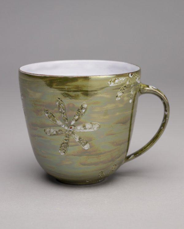 Landbeck Keramik große Tasse Gruen Luester