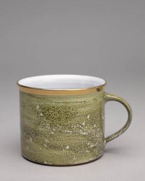 Landbeck Keramik Tasse Grün Lüster