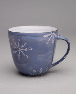 Landbeck Keramik große Tasse Blau Luester