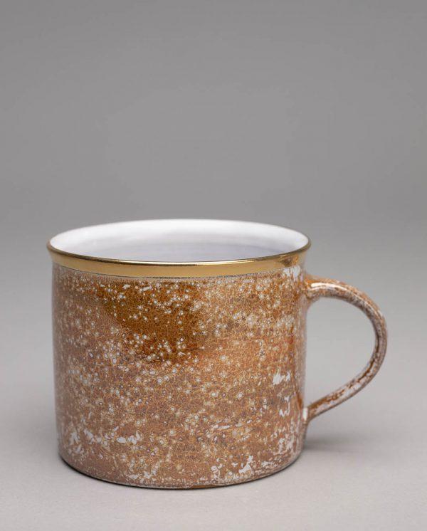 Landbeck Keramik Tasse Orange Lüster