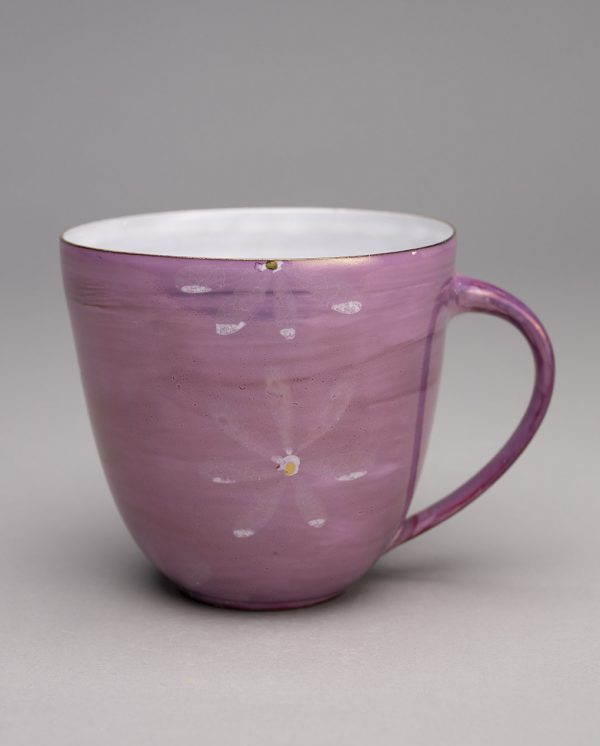 Landbeck Keramik große Tasse Rosa Luester
