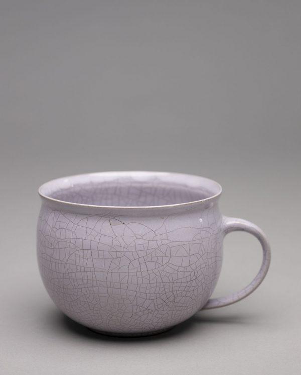 Landbeck Keramik Tasse Hellrosa Krakelee