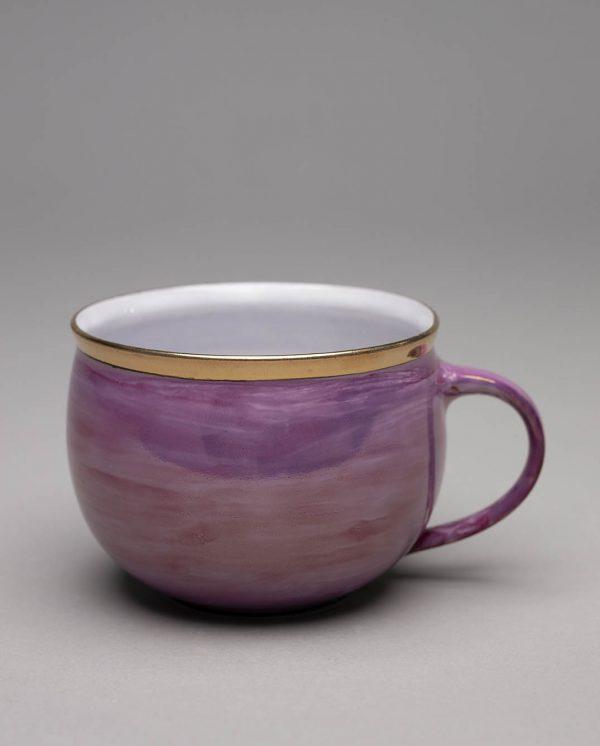 Landbeck Keramik Tasse Rosa Lüster