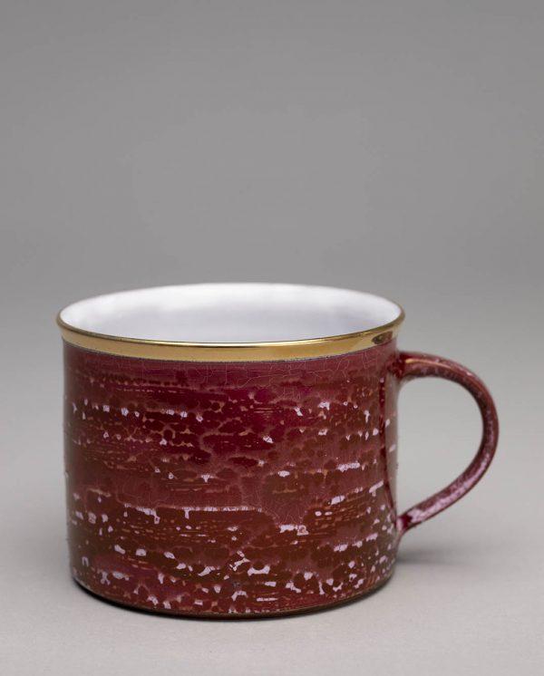 Landbeck Keramik Tasse Rot Lüster