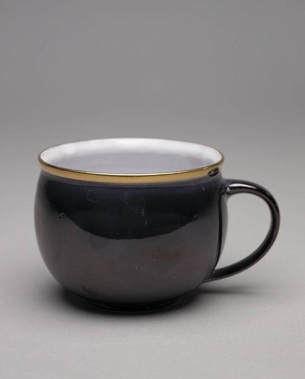 Landbeck Keramik Tasse Schwarz Lüster