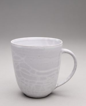 Landbeck Keramik kleine Tasse Grau Krakelee