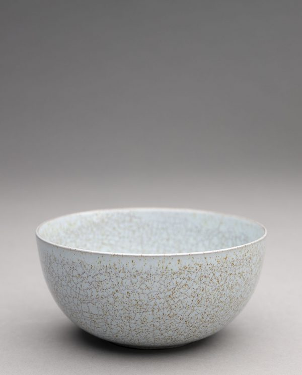 Landbeck Keramik Trinkschale Hellblau Krakelee