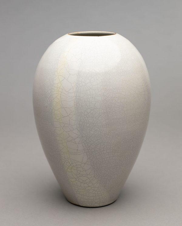 Landbeck Keramik große Vase Beige Krakelee