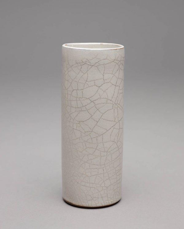 Landbeck Keramik kleine Vase Beige Krakelee