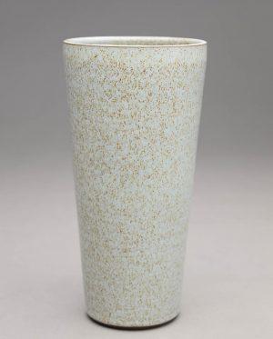 Landbeck Keramik große Vase Hellblau Krakelee