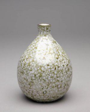Landbeck Keramik kleine Vase Grün Lüster
