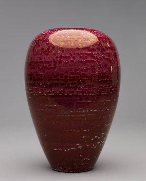 Landbeck Keramik große Vase Rot Lüster