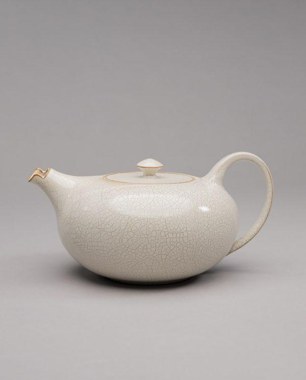 Landbeck Keramik Teekanne Braun Beige
