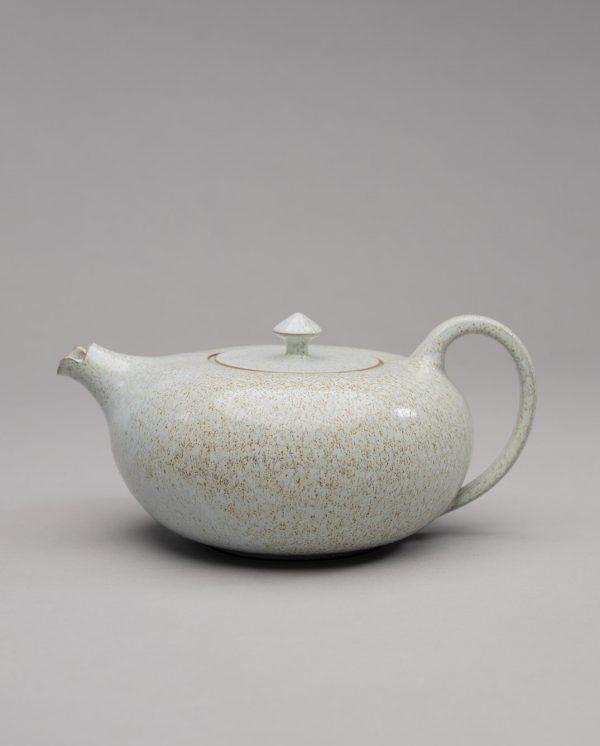 Landbeck Keramik Teekanne Braun Hellblau