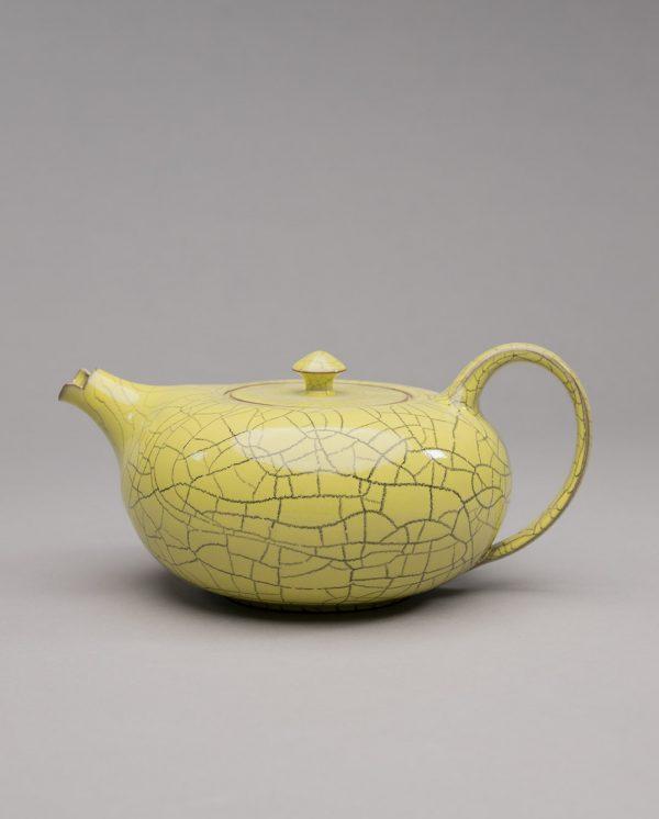 Landbeck Keramik Teekanne Braun Gelb