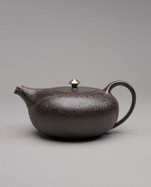 Landbeck Keramik Teekanne Braun Gold