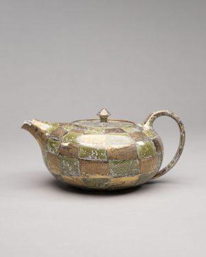 Landbeck Keramik Teekanne Gold Gruen