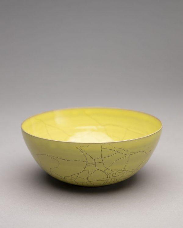 Landbeck Keramik Schale Gelb Krakelee