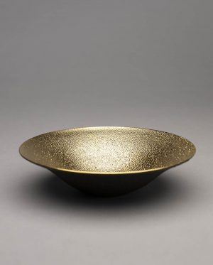 Landbeck Keramik Schale Braun Gold