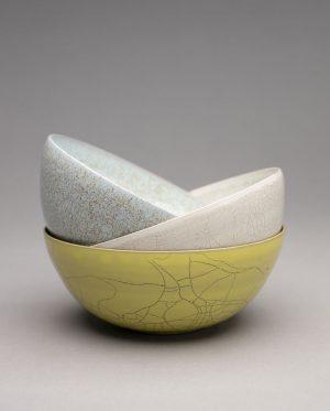 Landbeck Keramik Schalen Krakelee