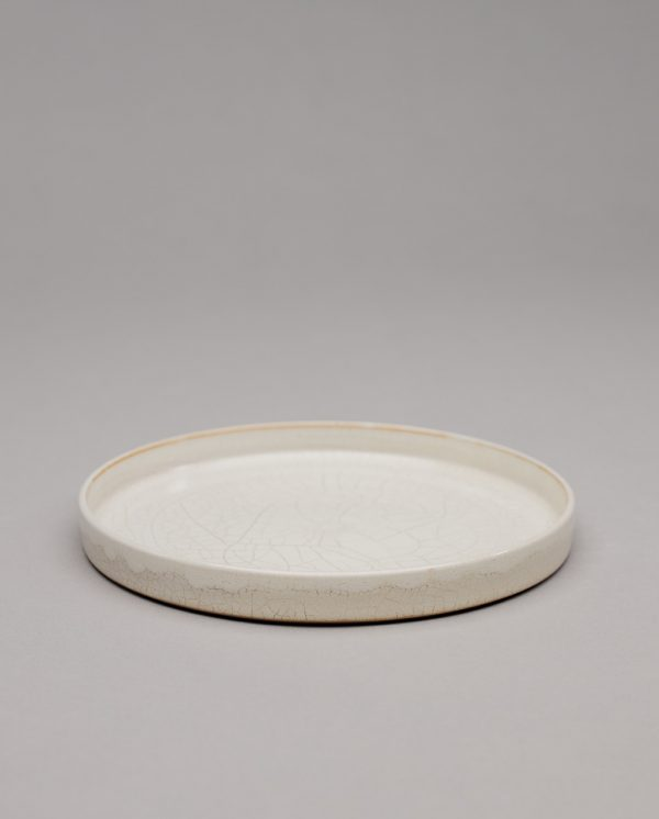 Landbeck Keramik Teller mit Rand Beige Krakelee