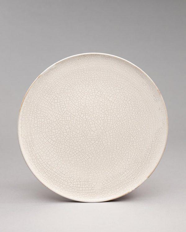 Landbeck Keramik Teller Beige Krakelee