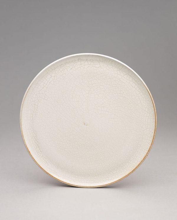 Landbeck Keramik kleiner Teller Beige Krakelee