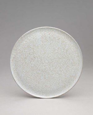 Landbeck Keramik kleiner Teller Hellblau Krakelee