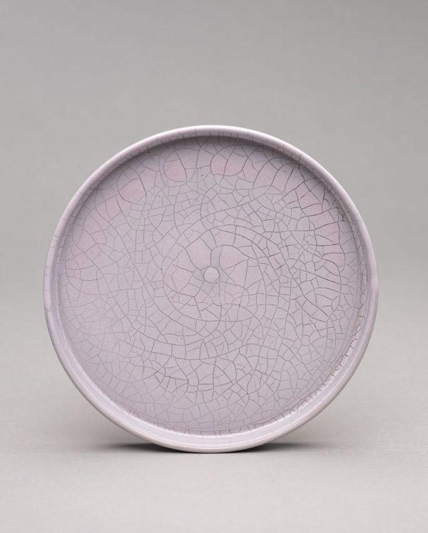 Landbeck Keramik Teller mit Rand Hellrosa Krakelee