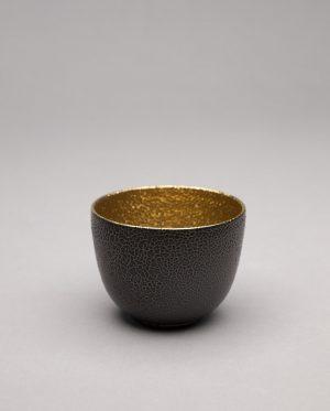 Landbeck Keramik kleine Schale Braun Gold